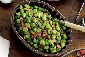 Broad Beans and Bacon