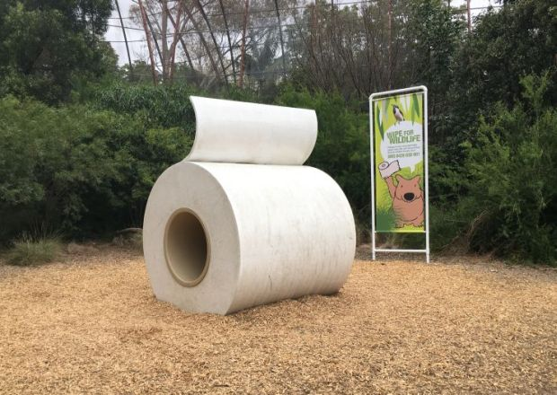 toilet roll sculpture Melbourne Zoo